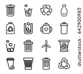 recycle icons set. set of 16... | Shutterstock .eps vector #642900985