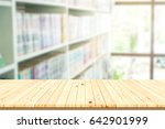 table top counter with blur... | Shutterstock . vector #642901999