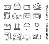 mail thin line icons | Shutterstock .eps vector #642904939