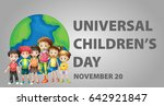 poster design for universal... | Shutterstock .eps vector #642921847