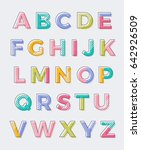 colorful geometric uppercase... | Shutterstock .eps vector #642926509