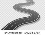 winding road on a white... | Shutterstock .eps vector #642951784