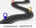 winding road on a white... | Shutterstock .eps vector #642952195