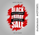 black friday sale inscription... | Shutterstock . vector #642953851