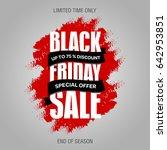 black friday sale inscription... | Shutterstock . vector #642953851