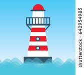 lighthouse  vector icon | Shutterstock .eps vector #642954985