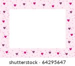 framework from pink hearts for... | Shutterstock . vector #64295647