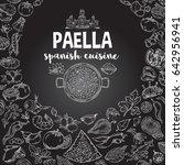 paella vector outline set fills ... | Shutterstock .eps vector #642956941