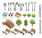 urban city street miniature... | Shutterstock . vector #642960871