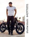 Sporty Biker Handsome Rider Ma...