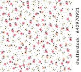 cute floral pattern in the... | Shutterstock .eps vector #642970921