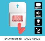 earplugs vector illustration.... | Shutterstock .eps vector #642978421