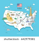 U.s.a Travel Landmark Collection