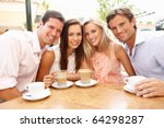 group of friends enjoying... | Shutterstock . vector #64298287