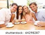 group of friends enjoying... | Shutterstock . vector #64298287