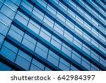 closeup of glass wall of modern ... | Shutterstock . vector #642984397