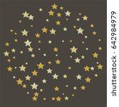 round pattern of yellow stars... | Shutterstock .eps vector #642984979