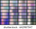 set of realistic metal foil.... | Shutterstock .eps vector #642987547