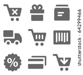 shopping web icons  grey solid... | Shutterstock .eps vector #64299466