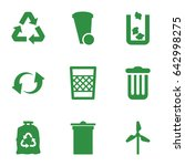 recycle icons set. set of 9... | Shutterstock .eps vector #642998275