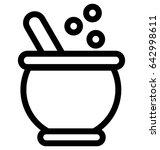 cauldron vector icon | Shutterstock .eps vector #642998611