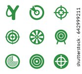 aim icons set. set of 9 aim...   Shutterstock .eps vector #642999211