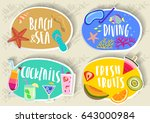 vector set of hand drawn round... | Shutterstock .eps vector #643000984