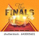 basketball event poster... | Shutterstock .eps vector #643005601