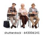 Seniors In School Chairs Takin...