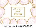 elegant summer sale banner with ... | Shutterstock .eps vector #643007269