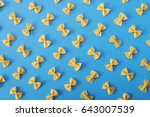 flat lay pasta background | Shutterstock . vector #643007539