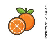 cartoon orange vector | Shutterstock .eps vector #643008571