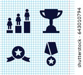 set of 4 trophy filled icons...   Shutterstock .eps vector #643010794