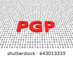 pgp in the form of binary code  ... | Shutterstock . vector #643013335