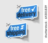 free delivery  free shipping...   Shutterstock .eps vector #64301839