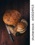 rustic home made rural bread... | Shutterstock . vector #643024915