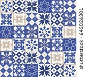 blue portuguese tiles pattern   ...   Shutterstock .eps vector #643026301