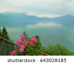 cloudy morning. turquoise... | Shutterstock . vector #643028185