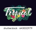 summer hawaiian vector design... | Shutterstock .eps vector #643032979