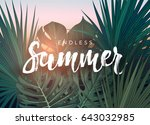 summer tropical vector design... | Shutterstock .eps vector #643032985
