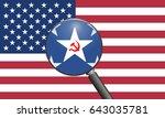 russia hacking the usa. russian ...   Shutterstock . vector #643035781