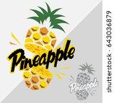 pineapple vector logo...   Shutterstock .eps vector #643036879