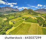 Small photo of Franschoek winelands and mountain countryside South Africa