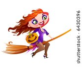 violet witch | Shutterstock .eps vector #6430396