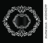 vintage baroque frame scroll...   Shutterstock .eps vector #643040299