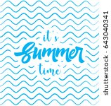 summer time vector poster. web... | Shutterstock .eps vector #643040341