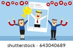 illustration vector cartoon of... | Shutterstock .eps vector #643040689