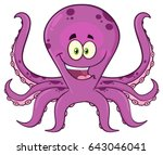 octopus cartoon mascot... | Shutterstock .eps vector #643046041
