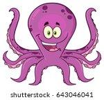 octopus cartoon mascot... | Shutterstock .eps vector #643046041