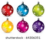 bright christmas decorations   Shutterstock .eps vector #64306351